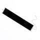 Wide Black & White Velvet Lace Choker Necklace