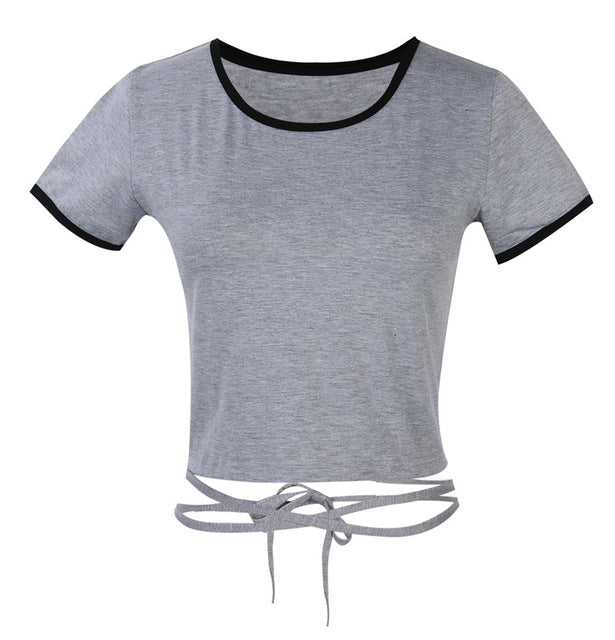 Bandage String Crop Top