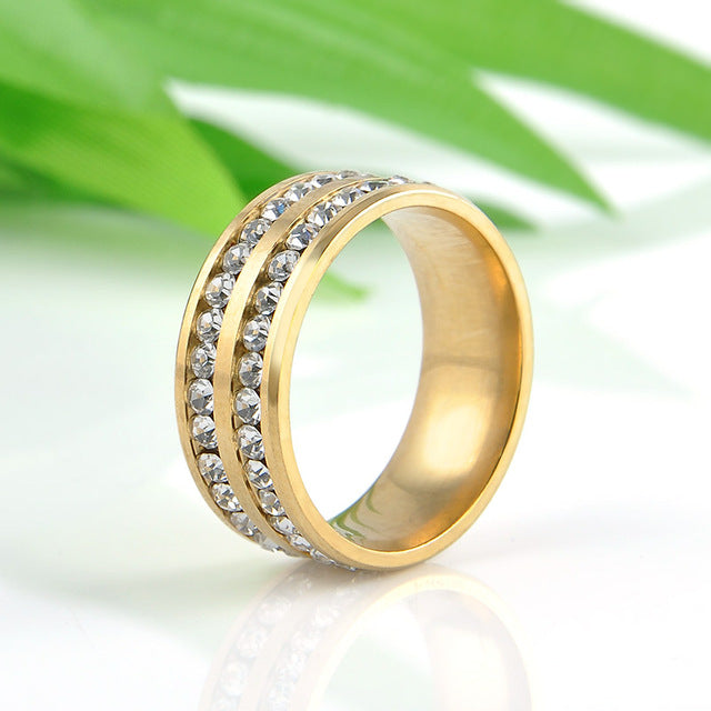 Gold/Silver Crystal Rings