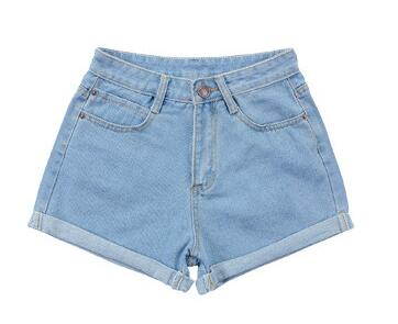 Retro High Waist Denim Shorts
