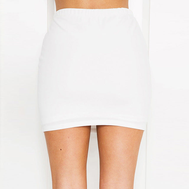 High Waist Rose Mini Skirt
