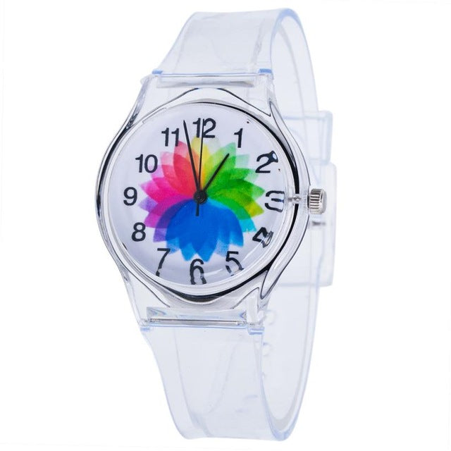 Transparent Silicone Colorful Watch