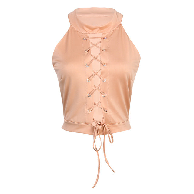 Bandage Lace Up Crop Top