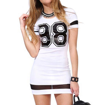 """98"" Printed Mini Dress"