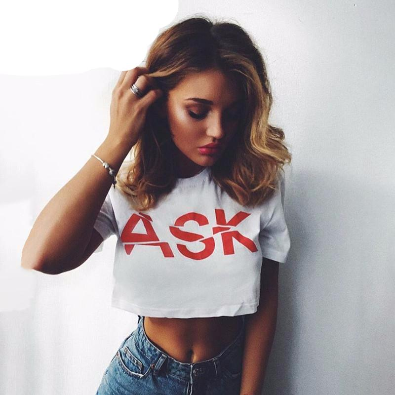 Ask Letter Print T-Shirt