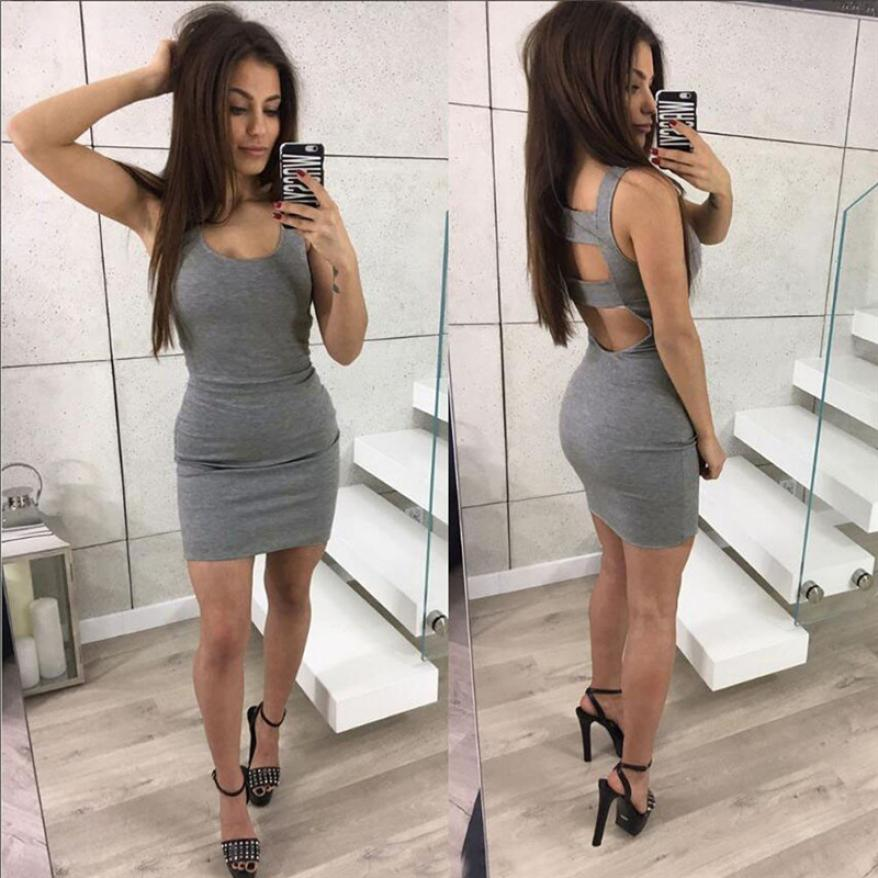 Bandage Backless Party Mini Dress