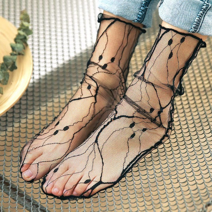 Mesh Transparent Socks