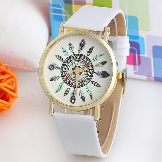 Native Feather Wrist Watch