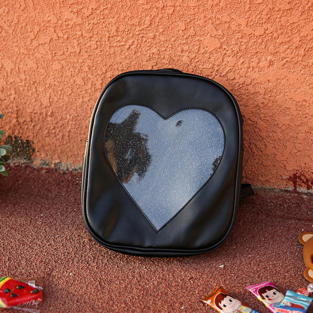 Candy Transparent Love Heart Shape Backpacks