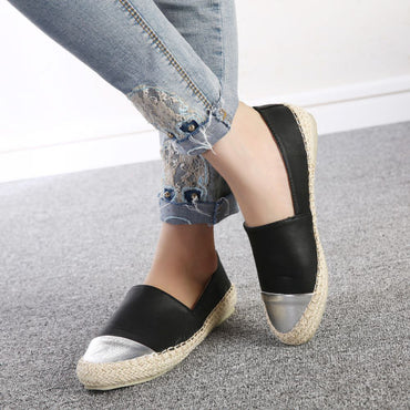 Faux Casual Slip-On Flat Shoes