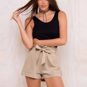 High Waist Ruffled Shorts