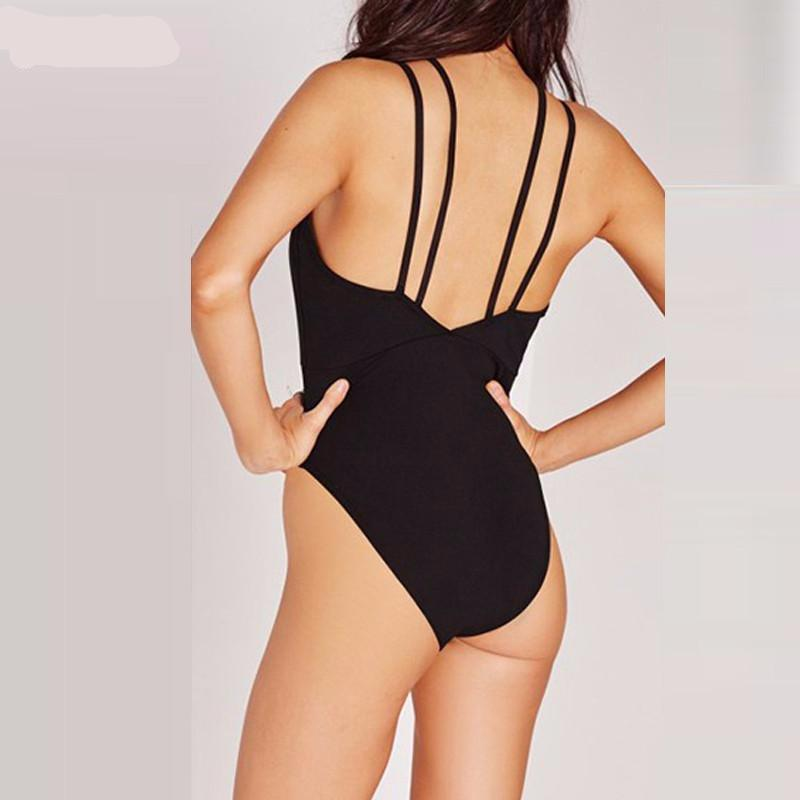 Deep V Neck Bodycon Bodysuit