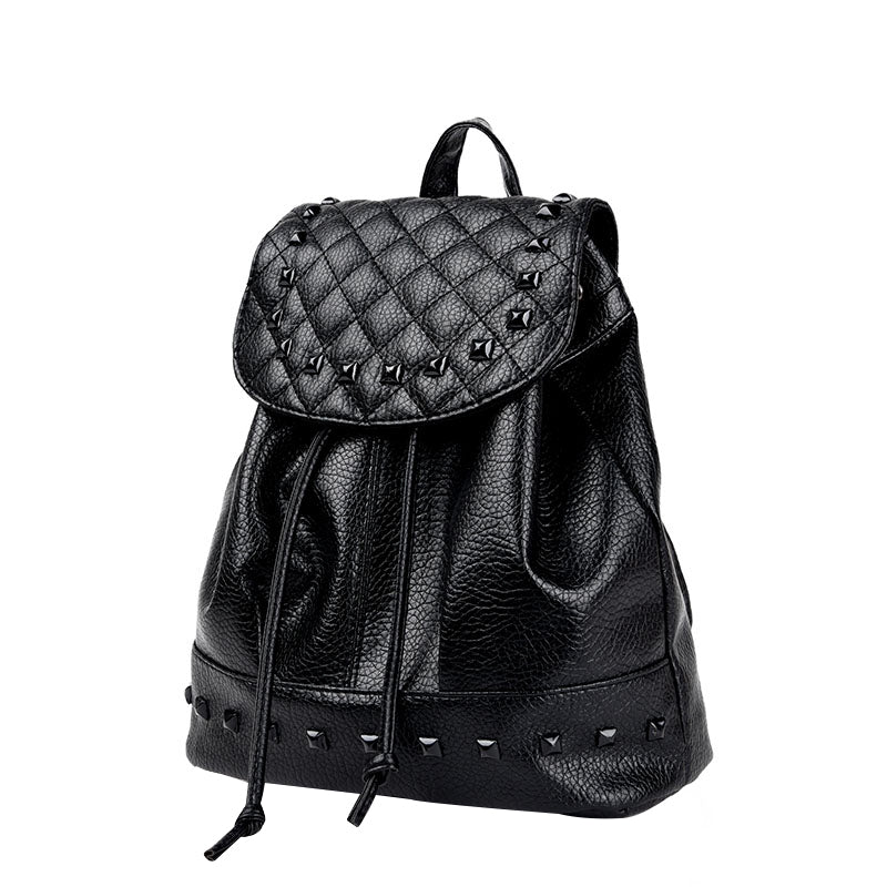 Black Faux Travel Backpack