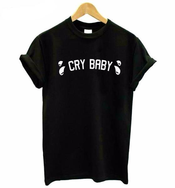 Cry Baby Letter Print T-Shirt