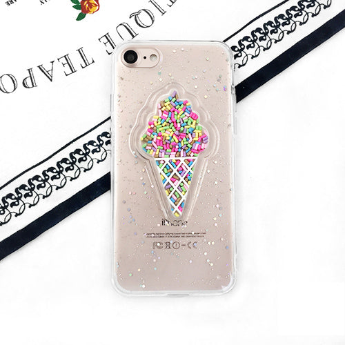 Glitter Ice Cream Phone Case