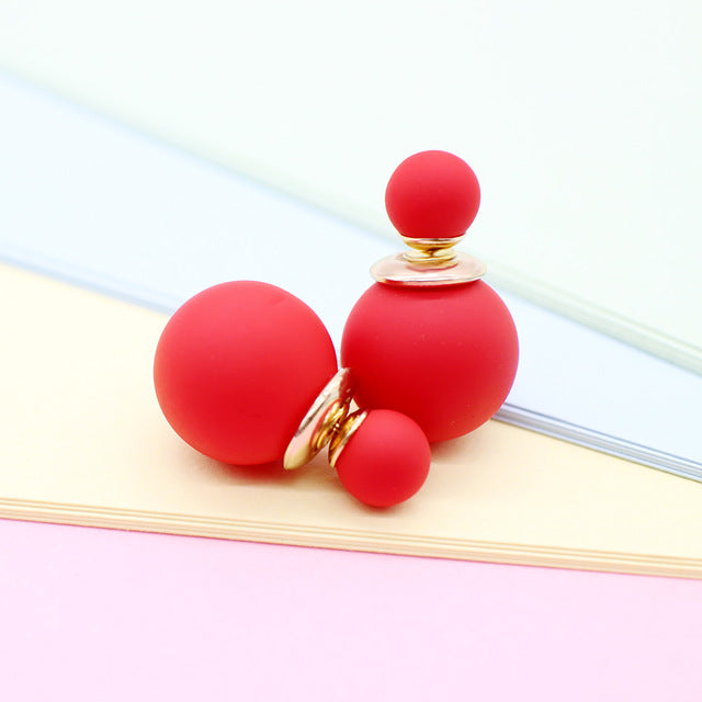 Pearl Ball Stud Earrings