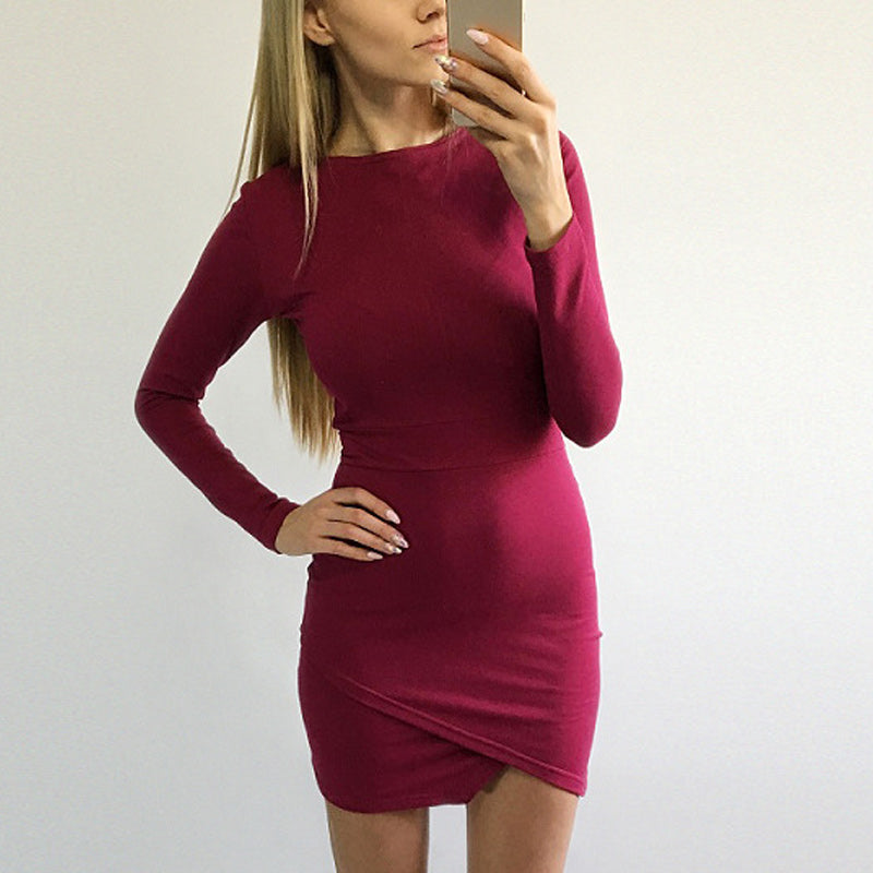 Casual O-Neck Bodycon Dress