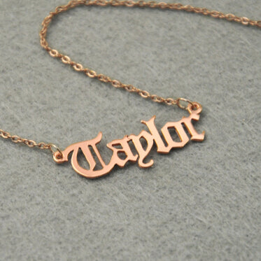 Personal Custom Engraved Gothic Name Necklace (3)