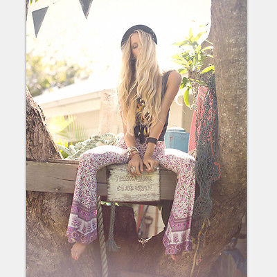 Boho Loose Wide Leg Flared Pants
