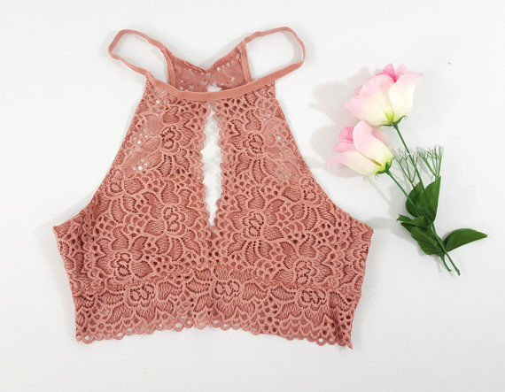 Backless Vest Top Lace Bralette