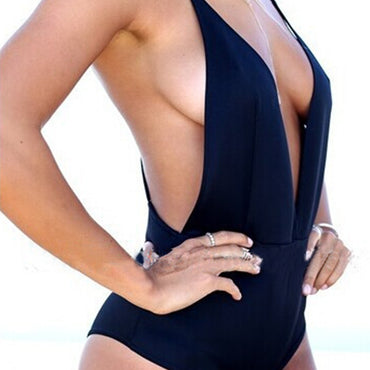 V-Neck Spaghetti Strap Backless Bodysuit