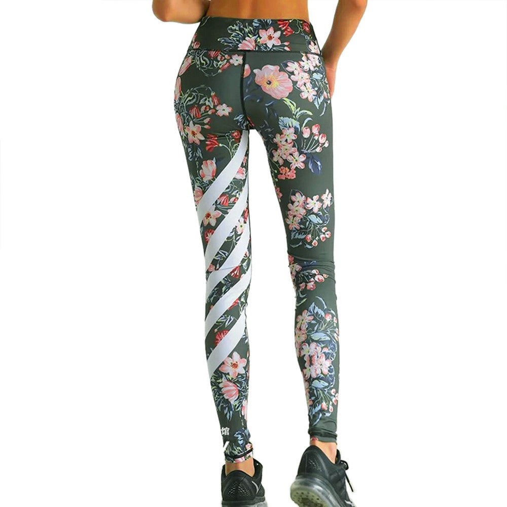 Floral Printed Exercise Leggings