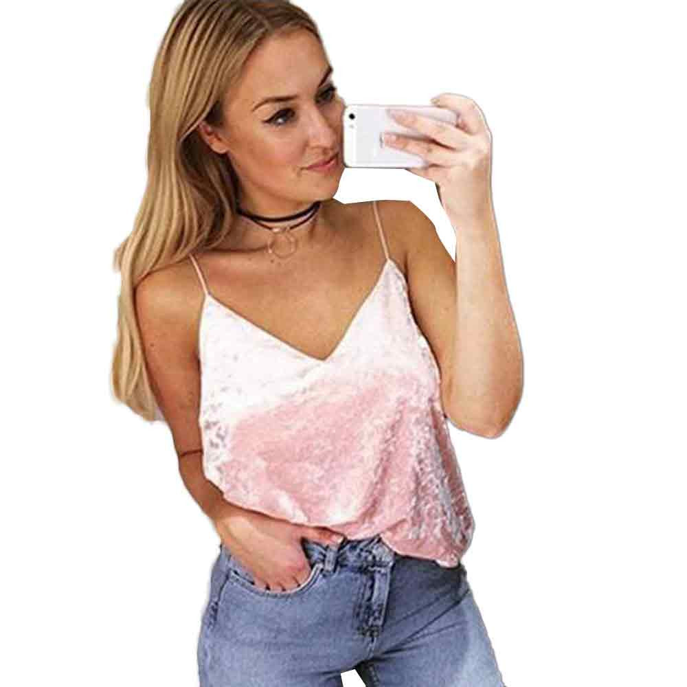 Elegant V-Neck Cami Top