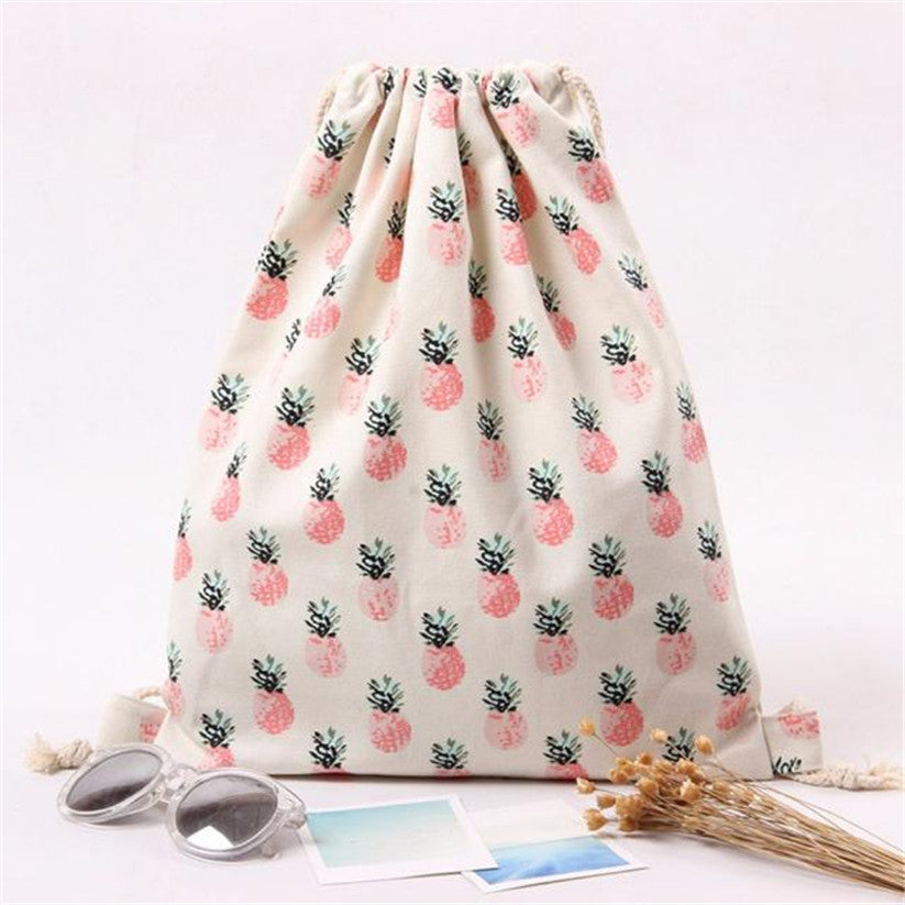Pineapple Drawstring Bag