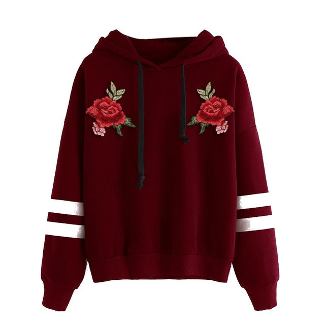 Double Rose Drawstring Pullovers