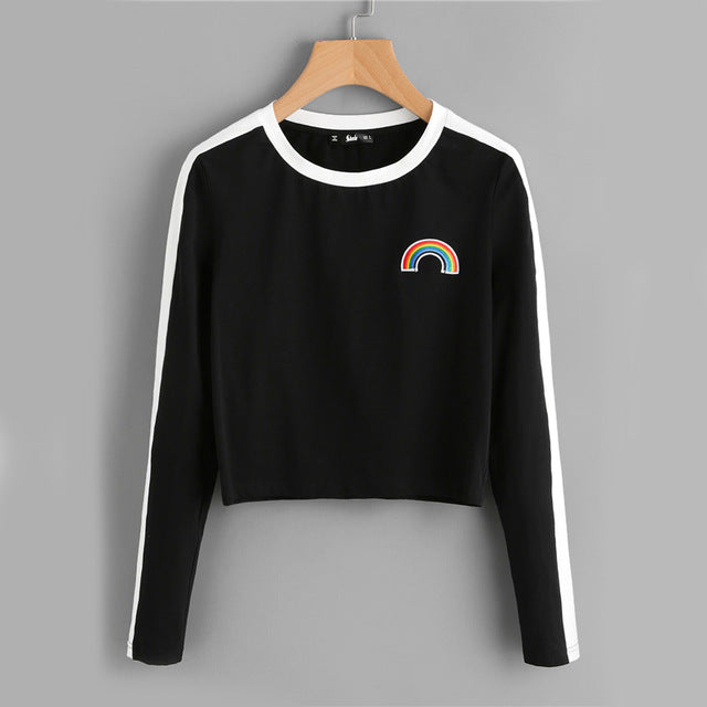 Rainbow Patch Long Sleeve Top