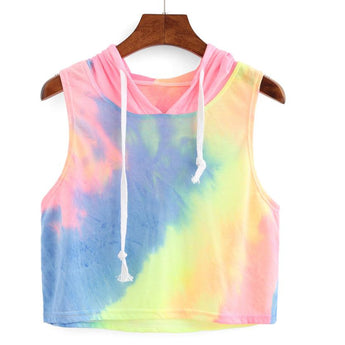 Rainbow Cropped Hoody