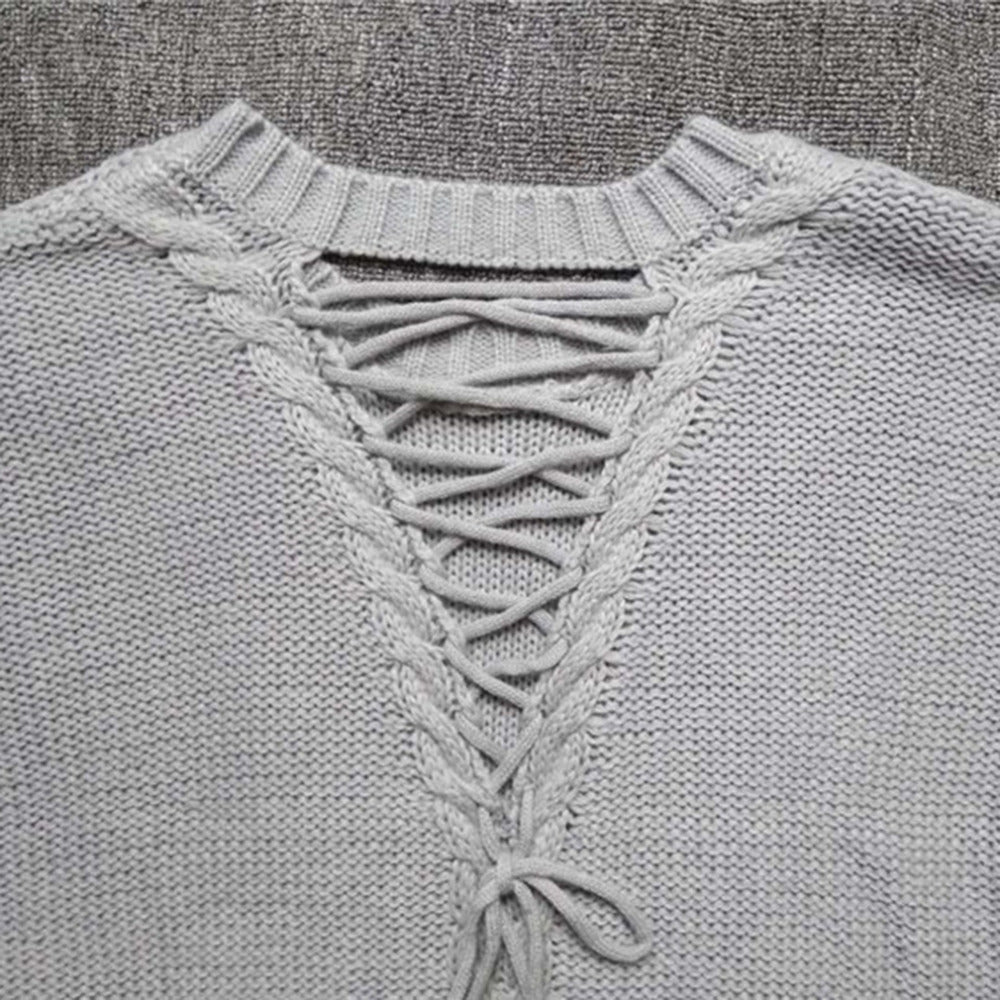 Sexy Backless Knitted Sweater