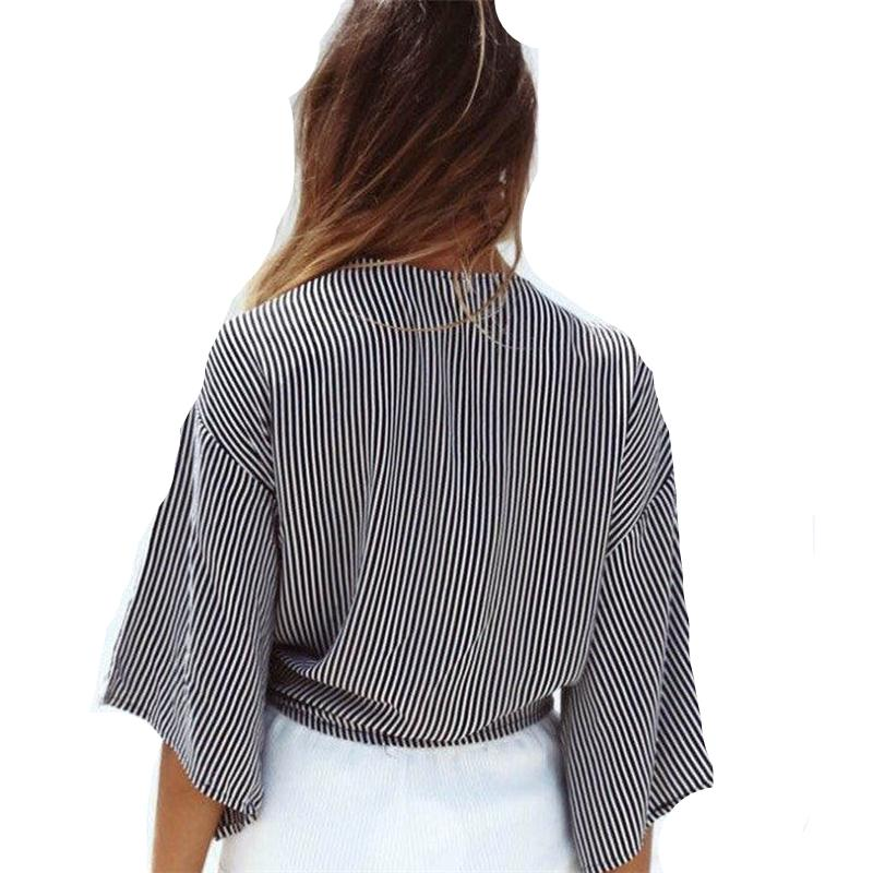 Striped Knot Loose Top (1)