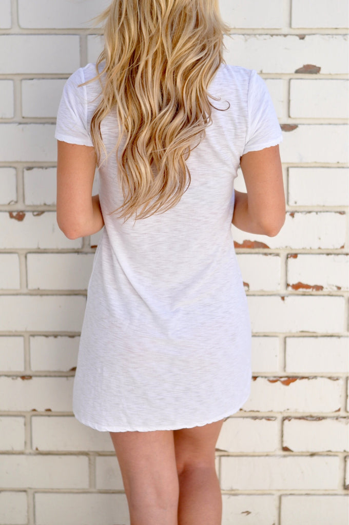 Cross Front T-Shirt Dress