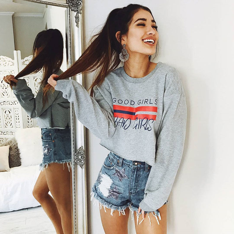 Good Girls Bad Girls Cropped Pullover