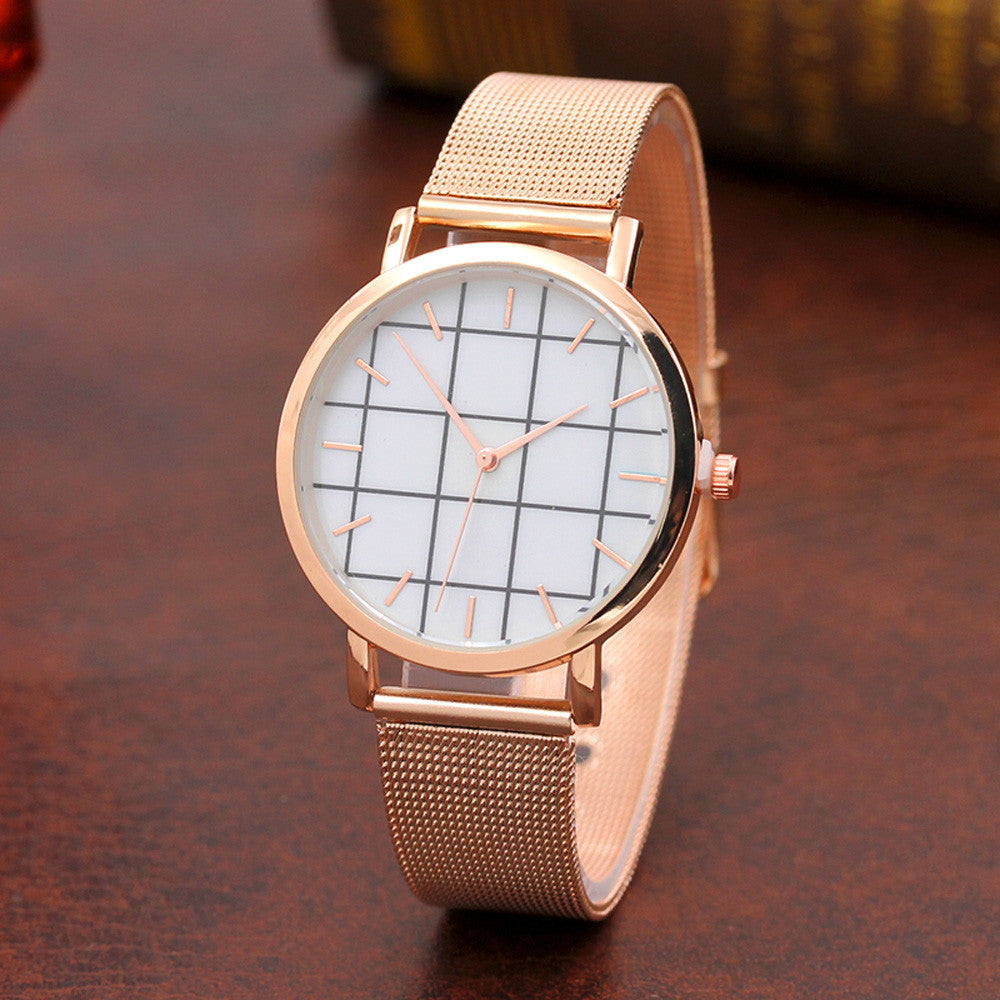 Plaid Quartz Wrist Watch