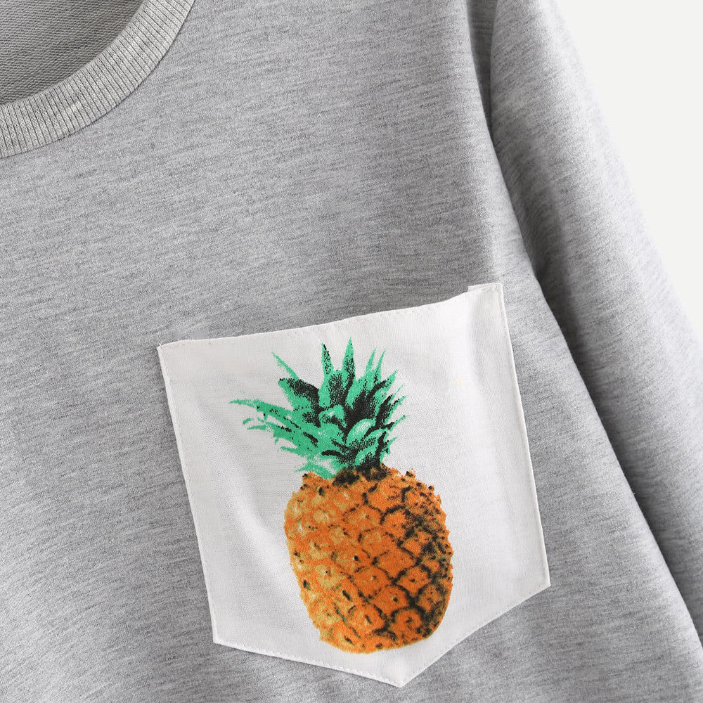 Pineapple Print Pullover
