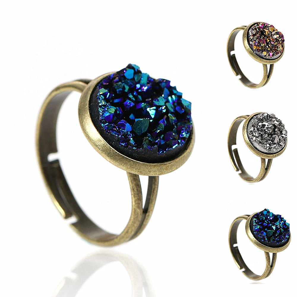 Adjustable Drusy Ring
