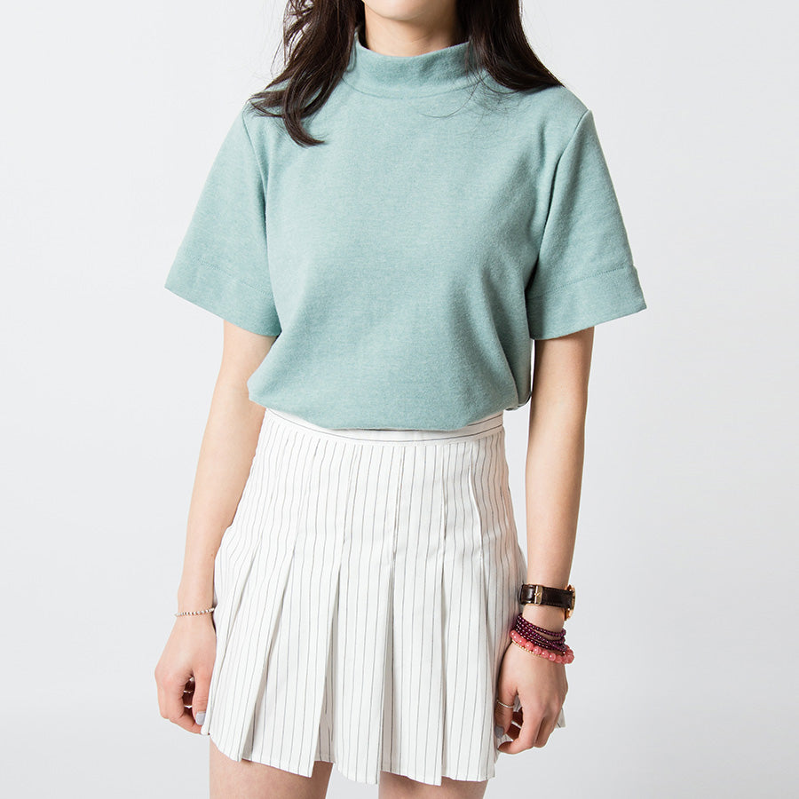 Loose Stand Collar T-Shirt
