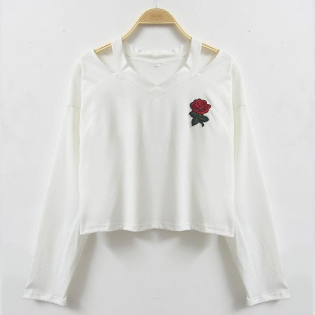 Rose Embroidered Pullover (3)