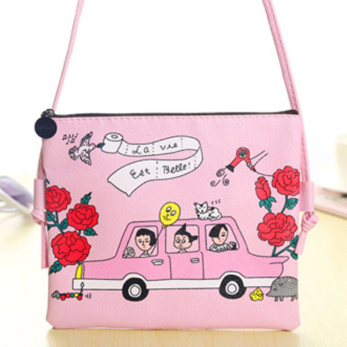 Cartoon Print Shoulder Bag