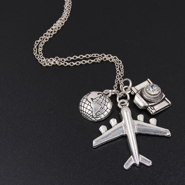 Wanderlust Airplane Necklace