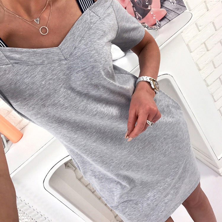Shoulder Strap Casual Dress (1)