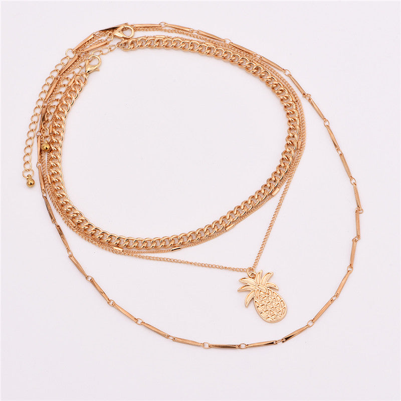 Multilayer Pineapple Necklace