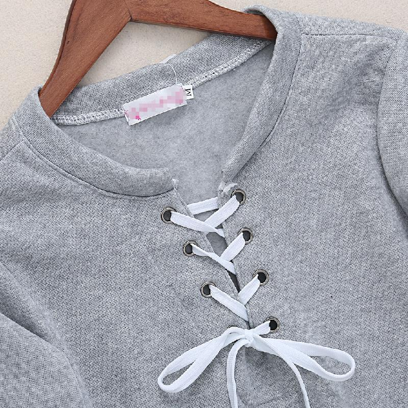 Lace Up Comfy Pullover