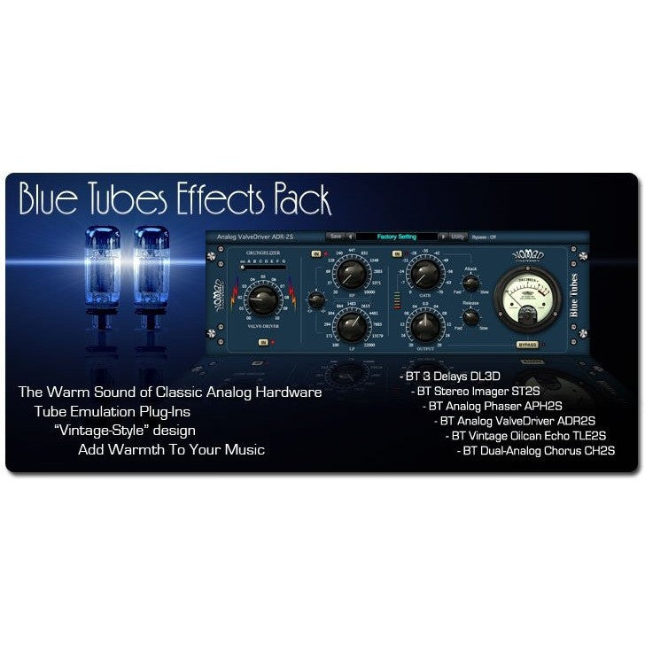 Blue Tubes Effects Pack - HIA music store, Bundle