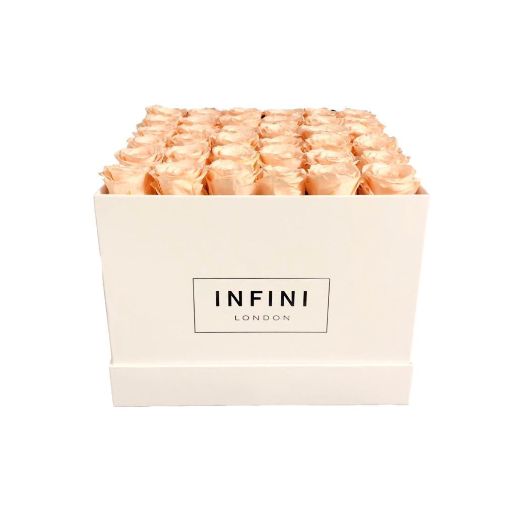 The Large Square Box - White - INFINI roses that last a year