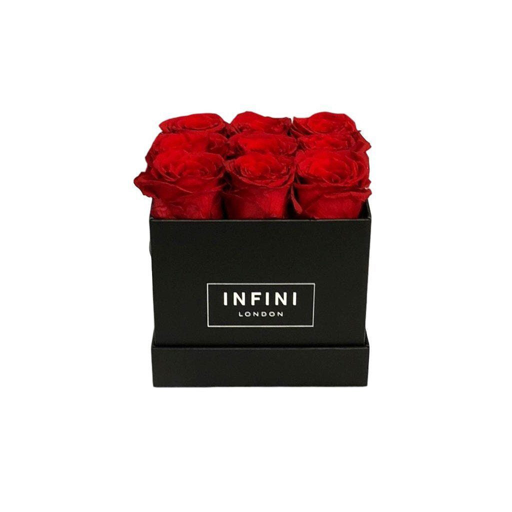 The Classic Cube - Black - INFINI roses that last a year