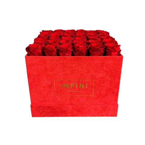 INFINI Cashmere Large Box - Red - INFINI roses that last a year