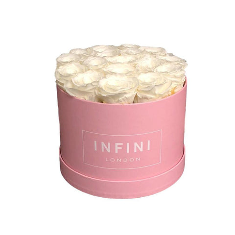 The Classic Round Box - Pink - INFINI roses that last a year